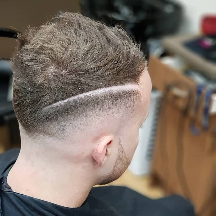 Bald Faded Line Haircut for Men