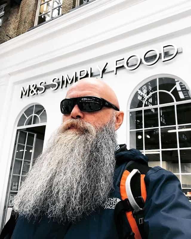bald guy with full long beard