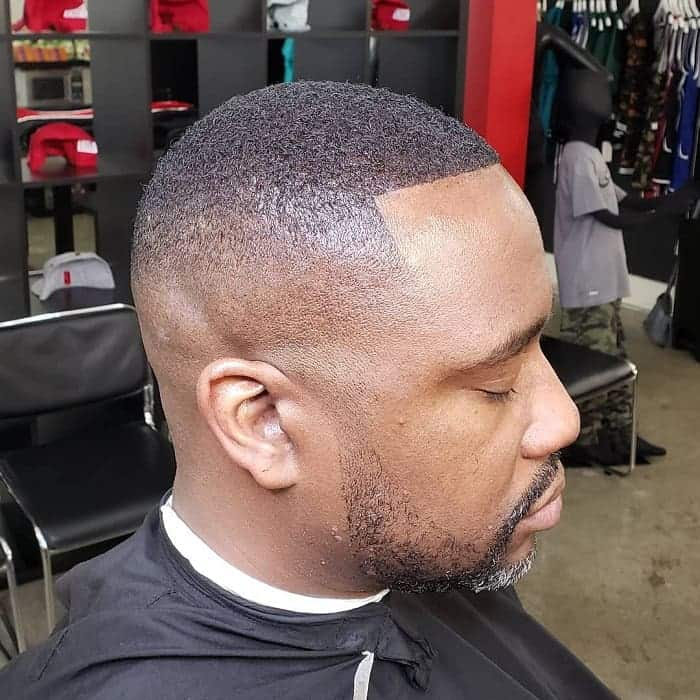 bald fade with beard