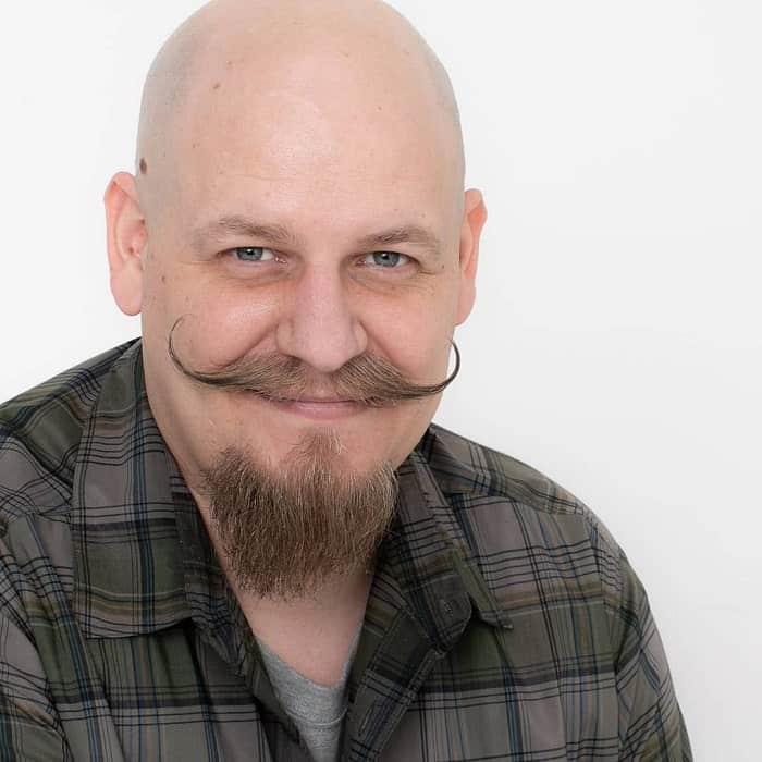 Bald Head with Van Dyke Beard