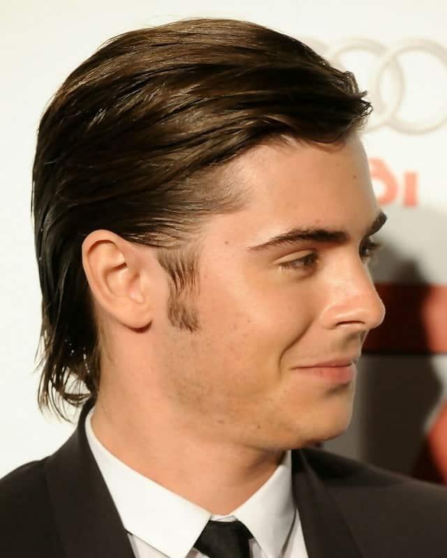 Peinado largo de crepé para cabello calvo.