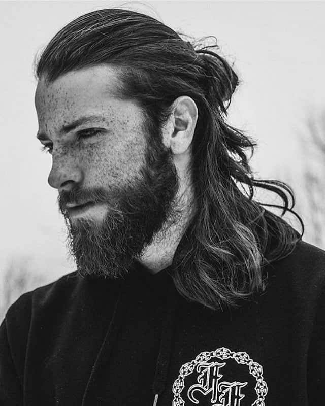 medio moño de pelo largo para cabello calvo