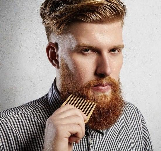 using beard comb