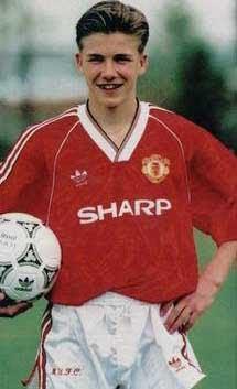 David Beckham teenage hairstyle.