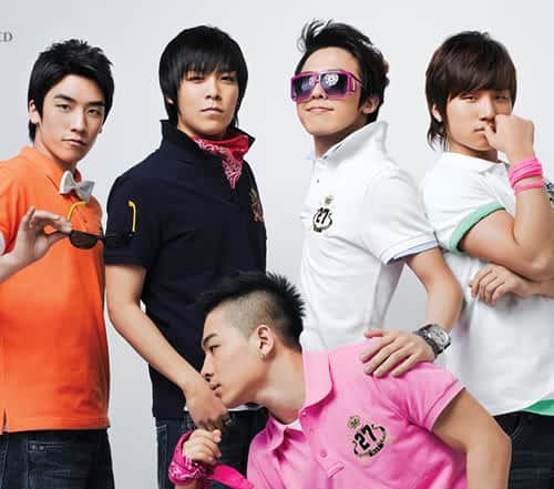 Big Bang hairstyle.