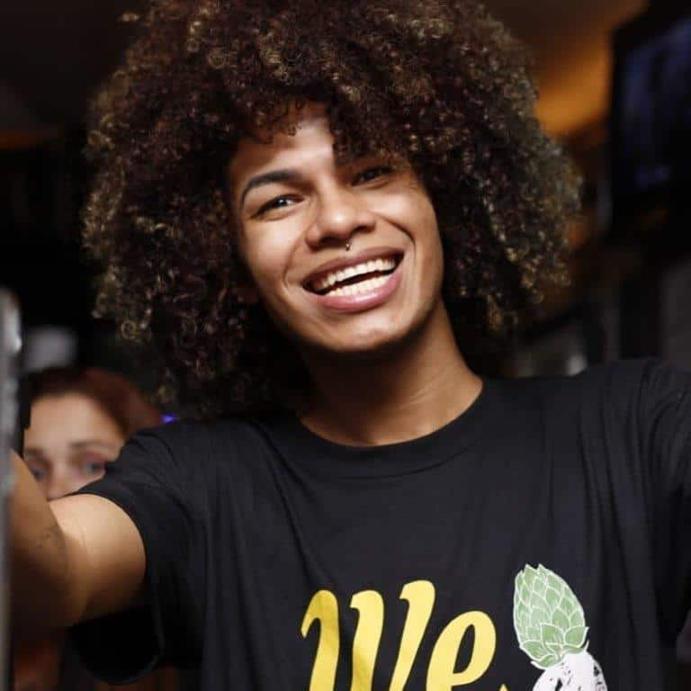 black boy with curly hair