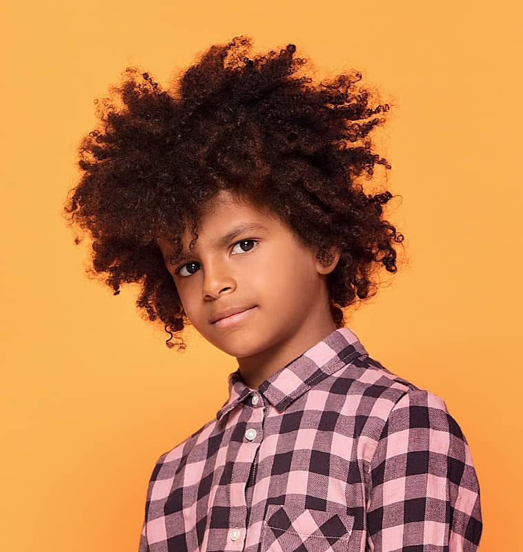 afro hair for black little boys