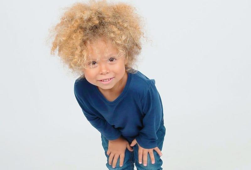 Black Kid with Blonde Hair