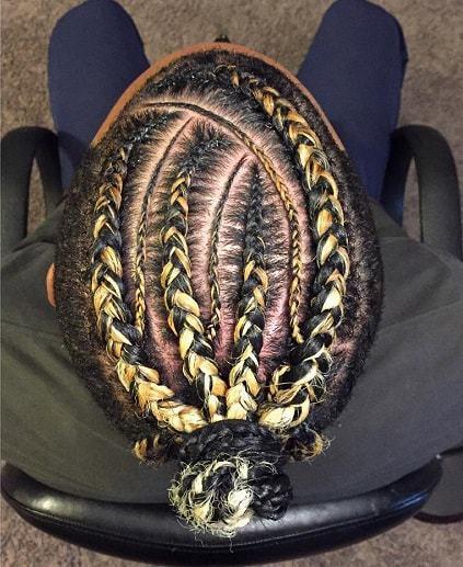 black man bun hairstyle