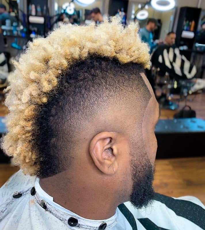 Black Man with Blonde Highlights