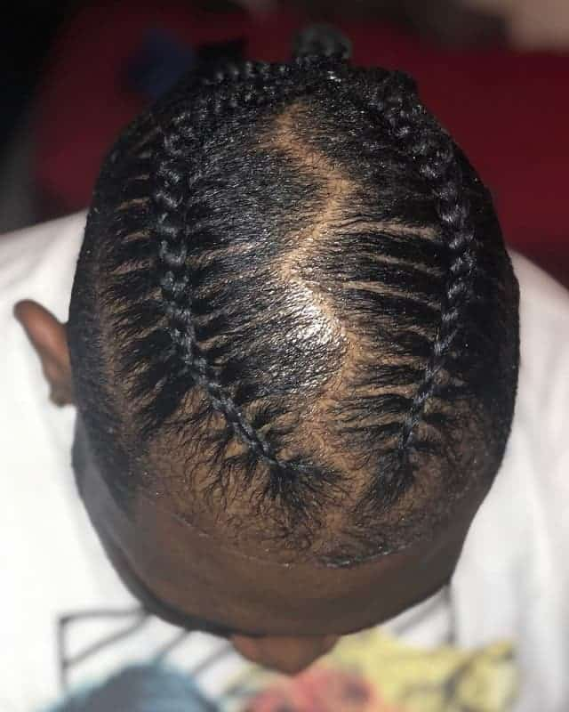 black men two braided man bun