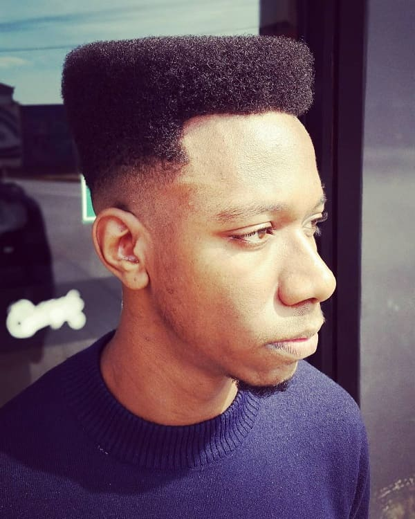 flat top undercut for black men