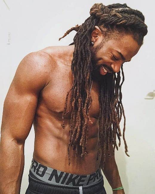 long twisted dreads for black men