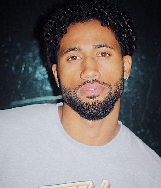 medium curly hair for black men