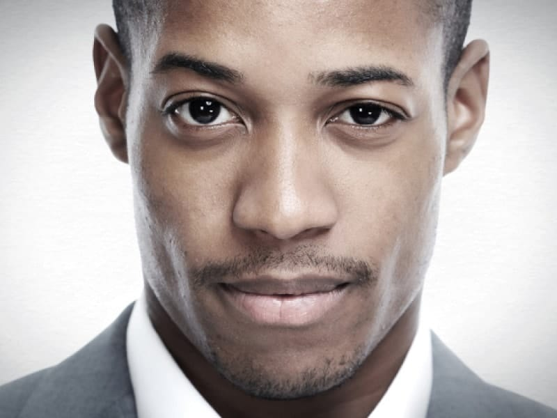 thin mustache styles for black men