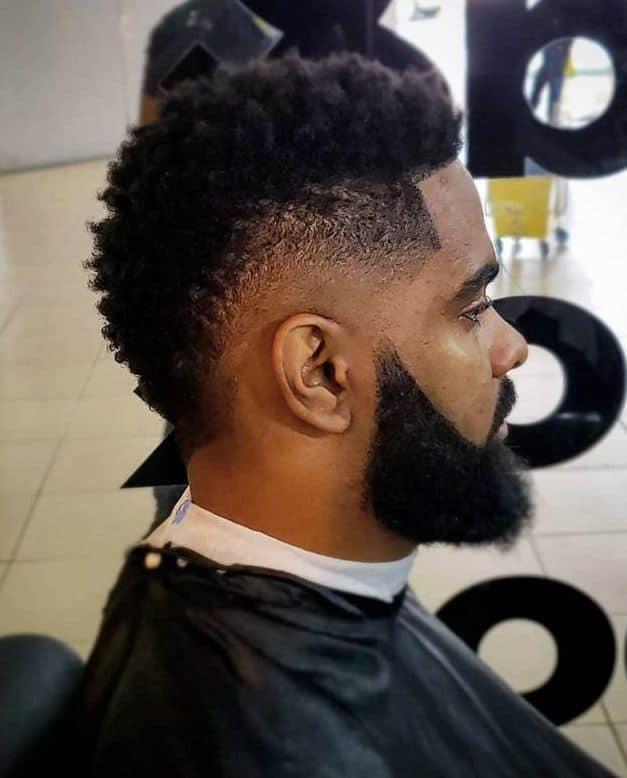 black guy mohawk with undercut