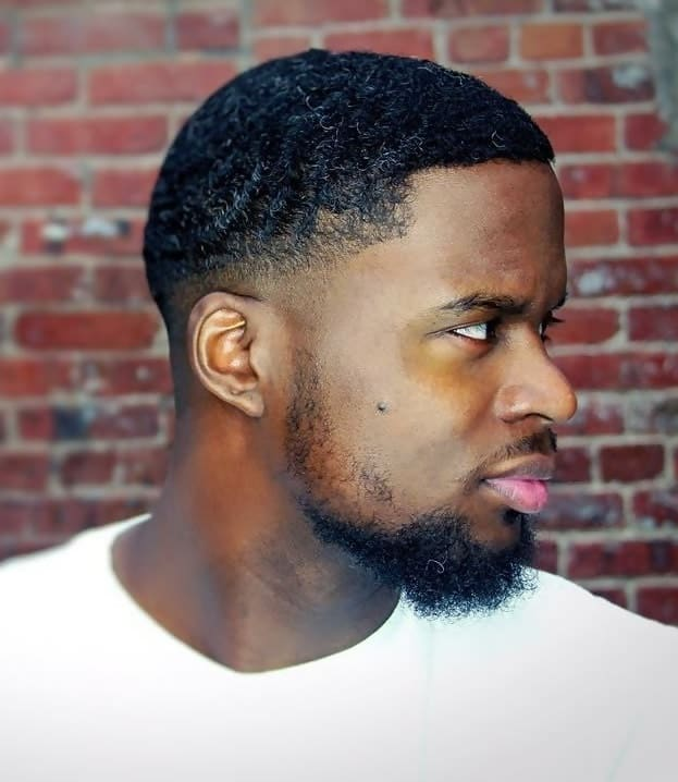 waves on short curly hair for black men