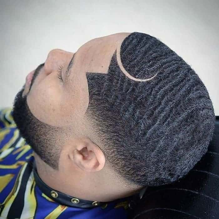 wavy hairstyle for black men