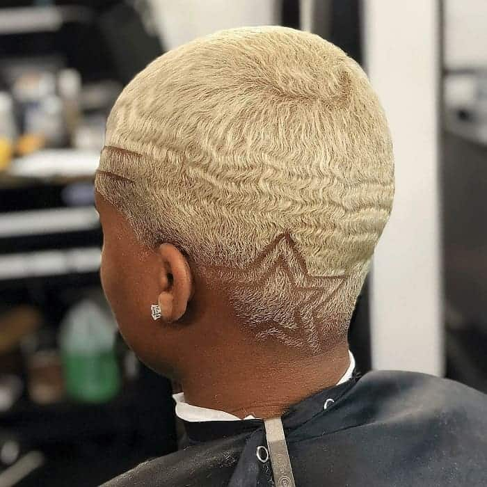 short blonde wavy hair for black men