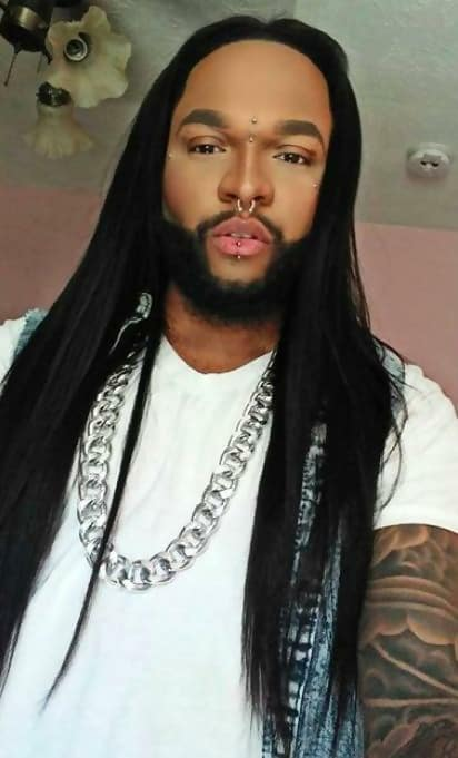 Black Guy with Long Straight Hair