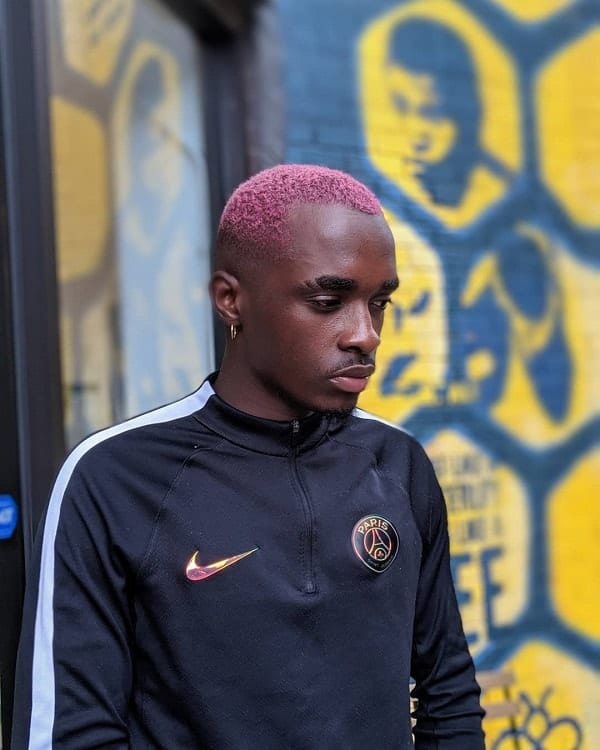 pink hair color for black men