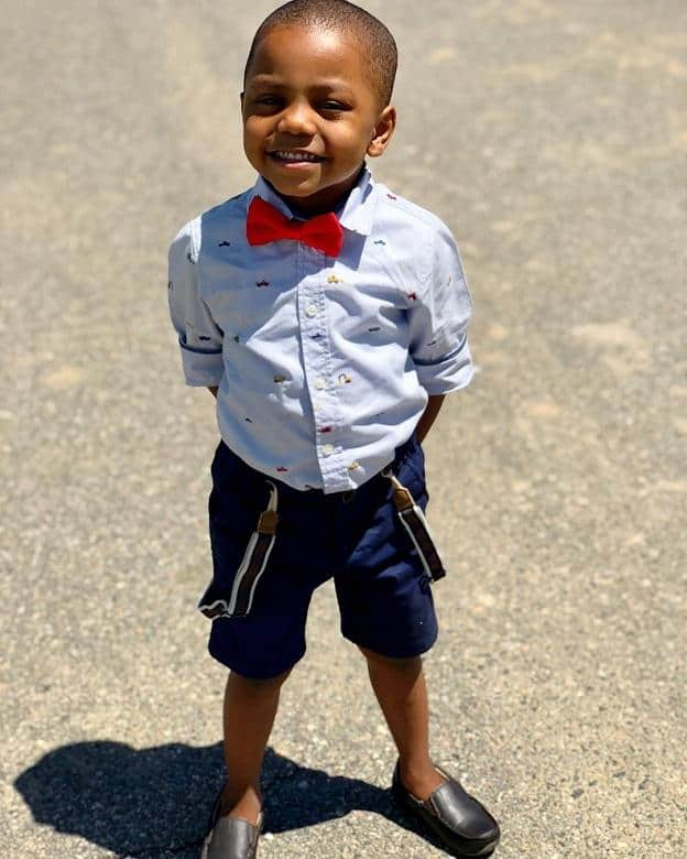 black toddler boy with short hairstyle