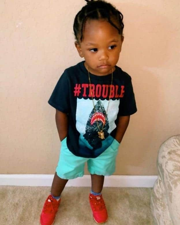 braided hairstyle for black toddlers