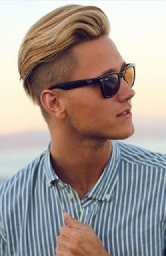 blonde undercut hairstyle