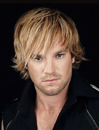 Blonde Straight Shaggy Hairstyle for men