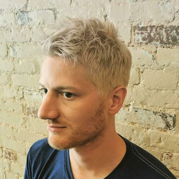 men's messy blonde hairstyles