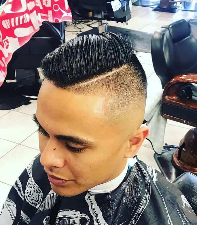 sleek blowout hairstyle