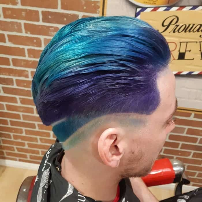 Blue And Purple Hair For Men