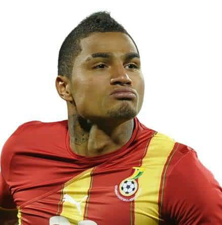 Picture of Boateng short mohawk hairstyle.