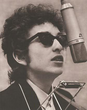 Bob Dylan hairstyle.