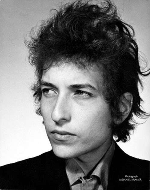 Bob Dylan hairstyle picture.