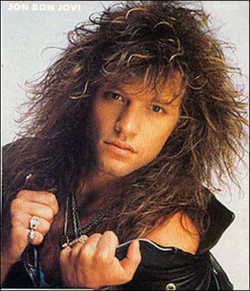 Jon Bon Jovi 80s Big Hairstyle for Men.