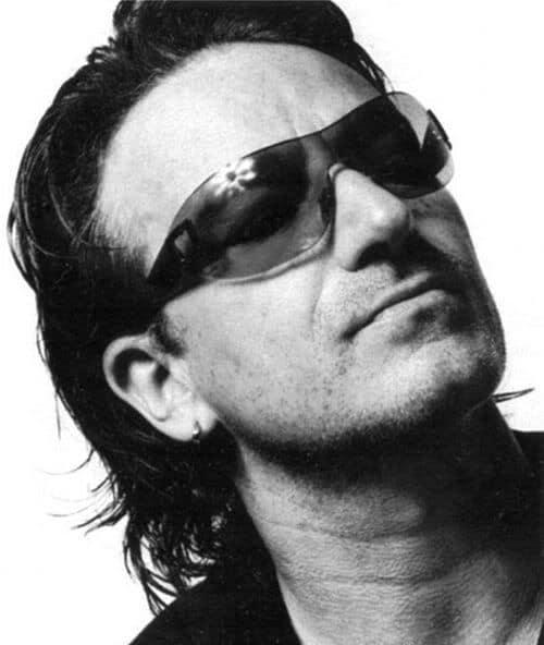 Photo of Bono shoulder length hairstyle