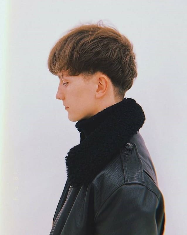 bowl cut with thick hair for men