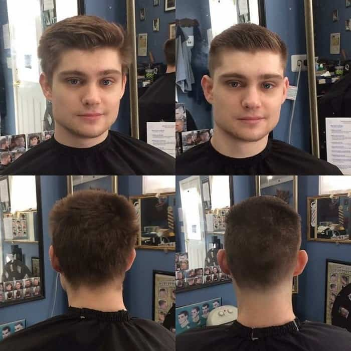boys undercut with ivy league hairstyle