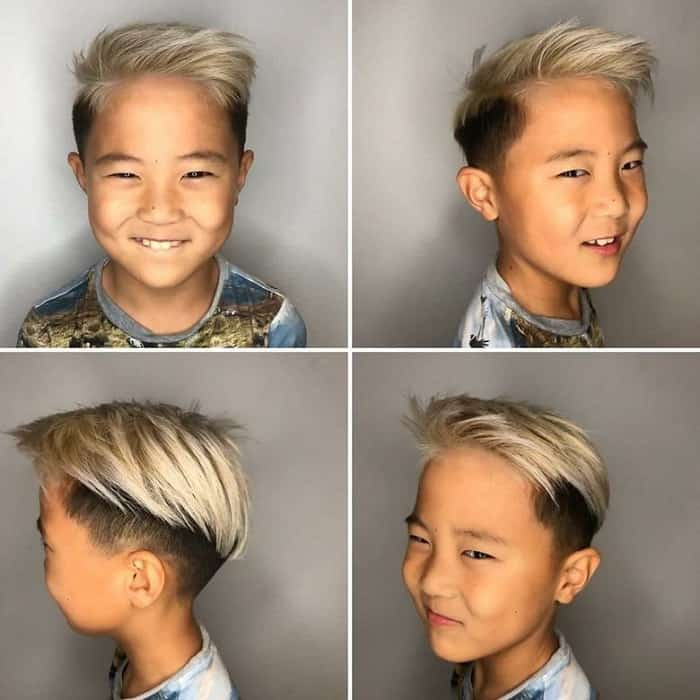 Side Quiff with Undercut for Boys