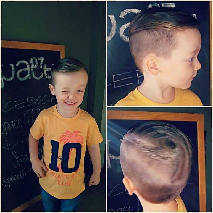 Boys Undercut with Slick Back Comb Over Style