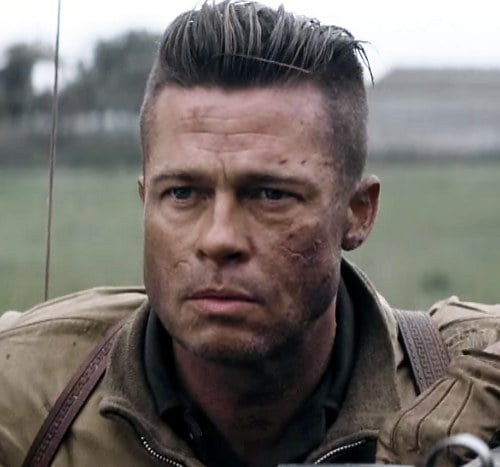 brad pitt fury hair - photo #2