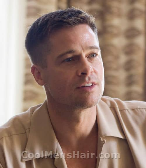 Picture of Brad Pitt hairstyle in The Tree of Life.