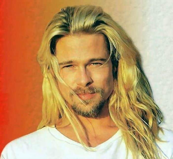 Brad Pitt long blonde hair