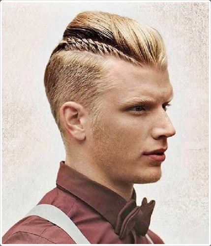 Men's Braided Mohawk with Shaved Side