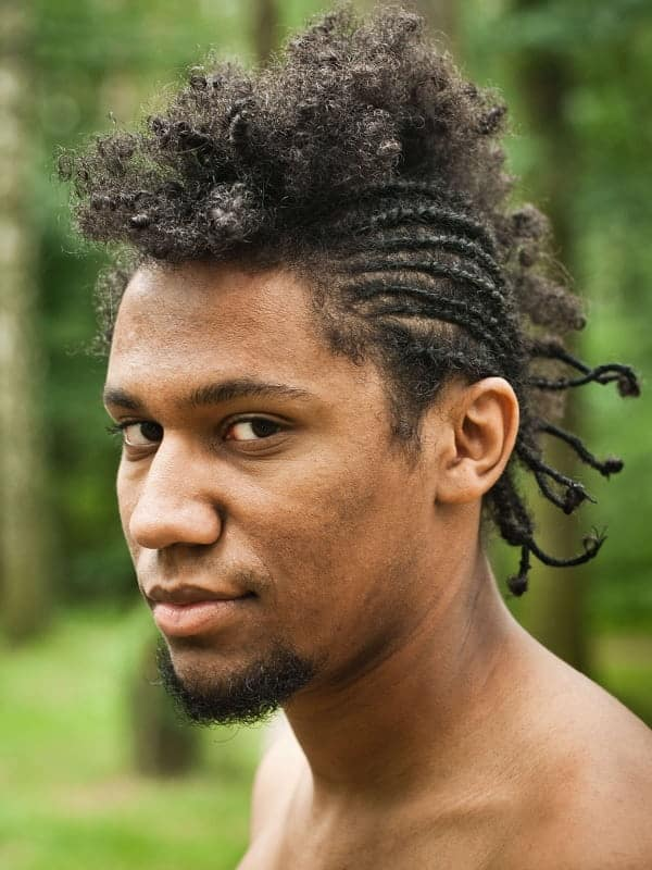 Braids with a Mohawk for Men