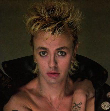 Photo of Brian Setzer hairstyle.