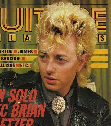 Photo of Brian Setzer.