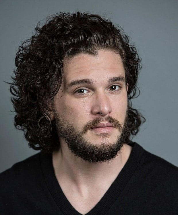 British Actor with Curly Hair