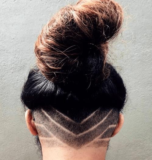 Celebrity buzz cut hair
